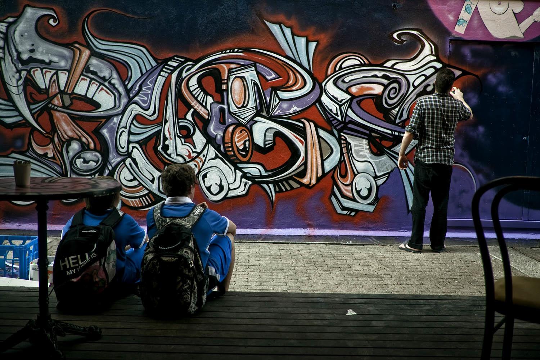 Graffiti wall cairns - Shot Luke Shirlaw Cut Selina Miles