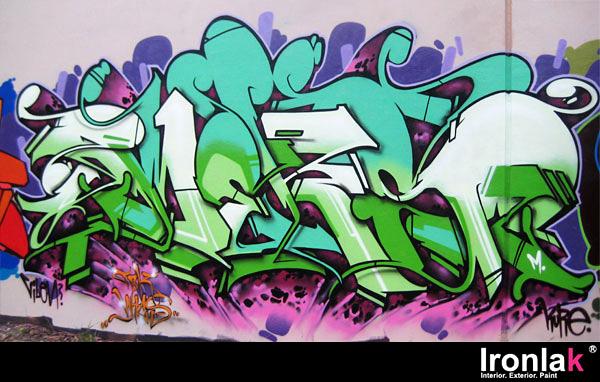 Meks, graffiti, Ironlak