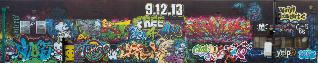 Infinity Crew, Dallas, Vinyl Thoughts, graffiti, Ironlak