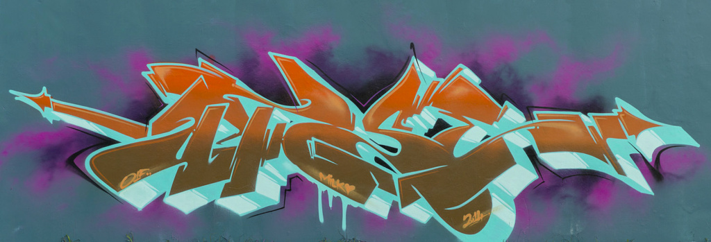 Dymskov, graffiti, Ironlak
