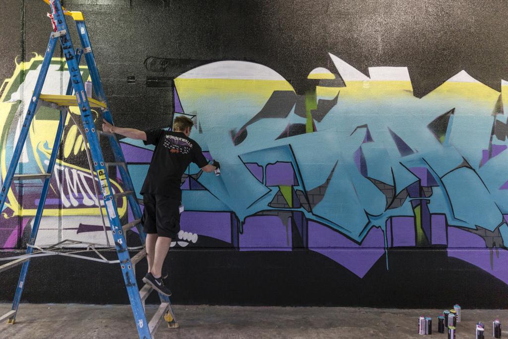 Reals, Wonderwalls Festival, Wollongong, graffiti