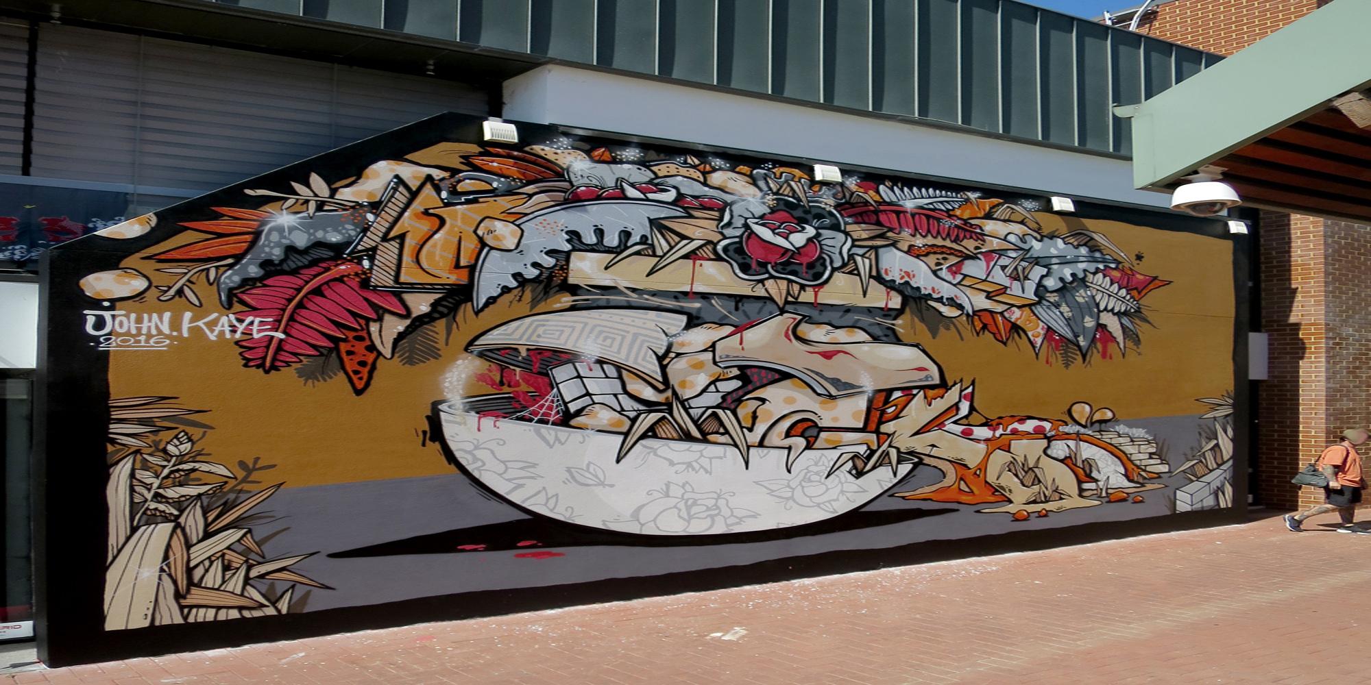 John Kaye, graffiti, Ironlak