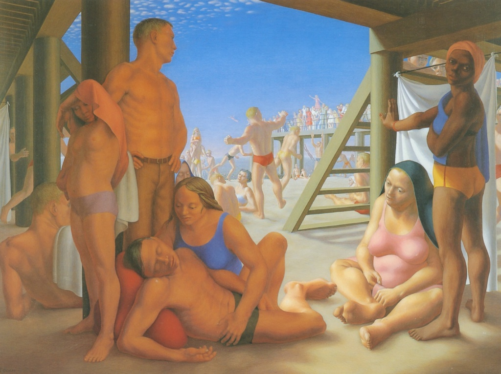 Coney Island. Artwork by George Tooker