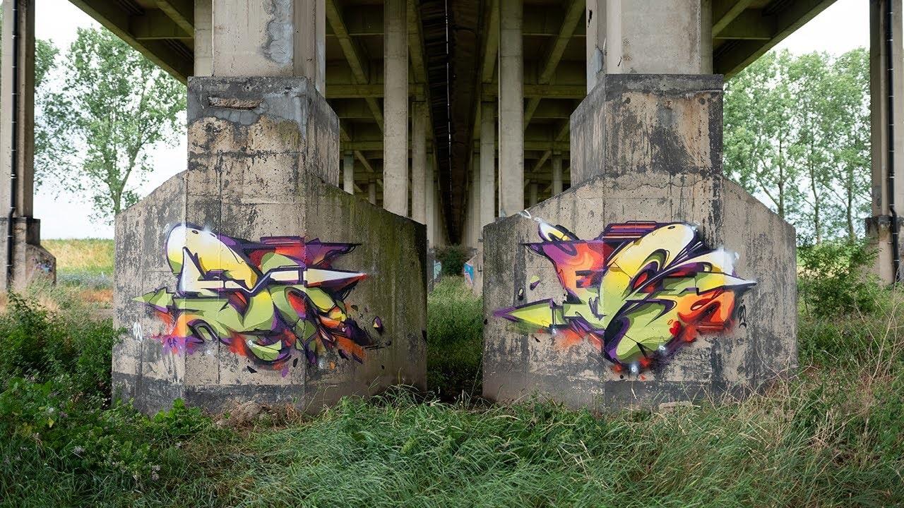 Does Somewhere In Europe Graffiti Video featuring Ironlak Spraypaint