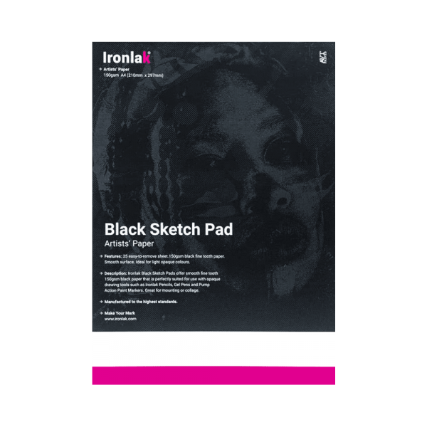 Ironlak Black Sketch Pad