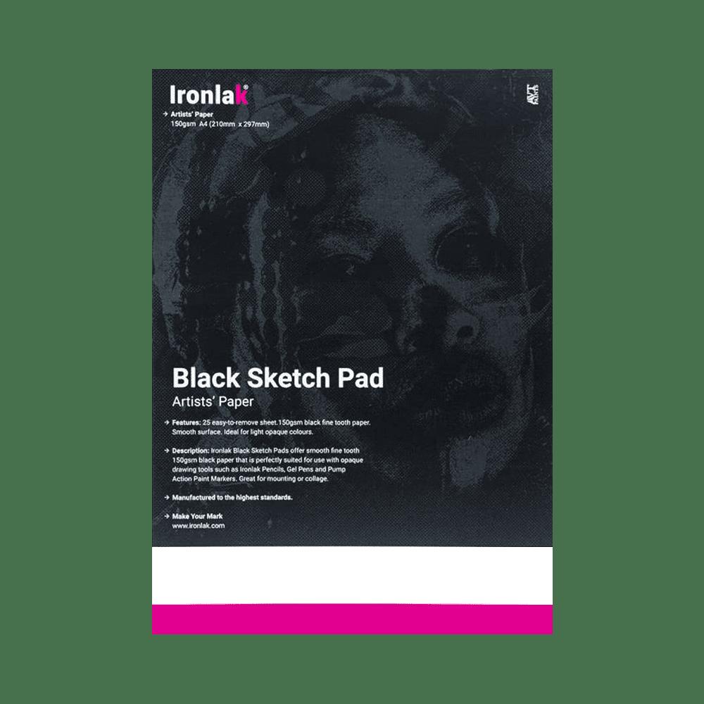 Ironlak Black Sketch Pad Ironlak Spray Paint Graffiti Markers And Street Wear