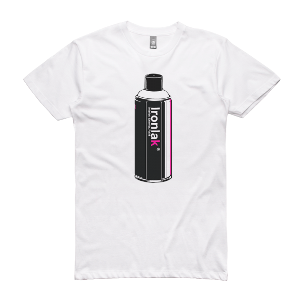 Ironlak Retro Can Upright Storage T-Shirt White