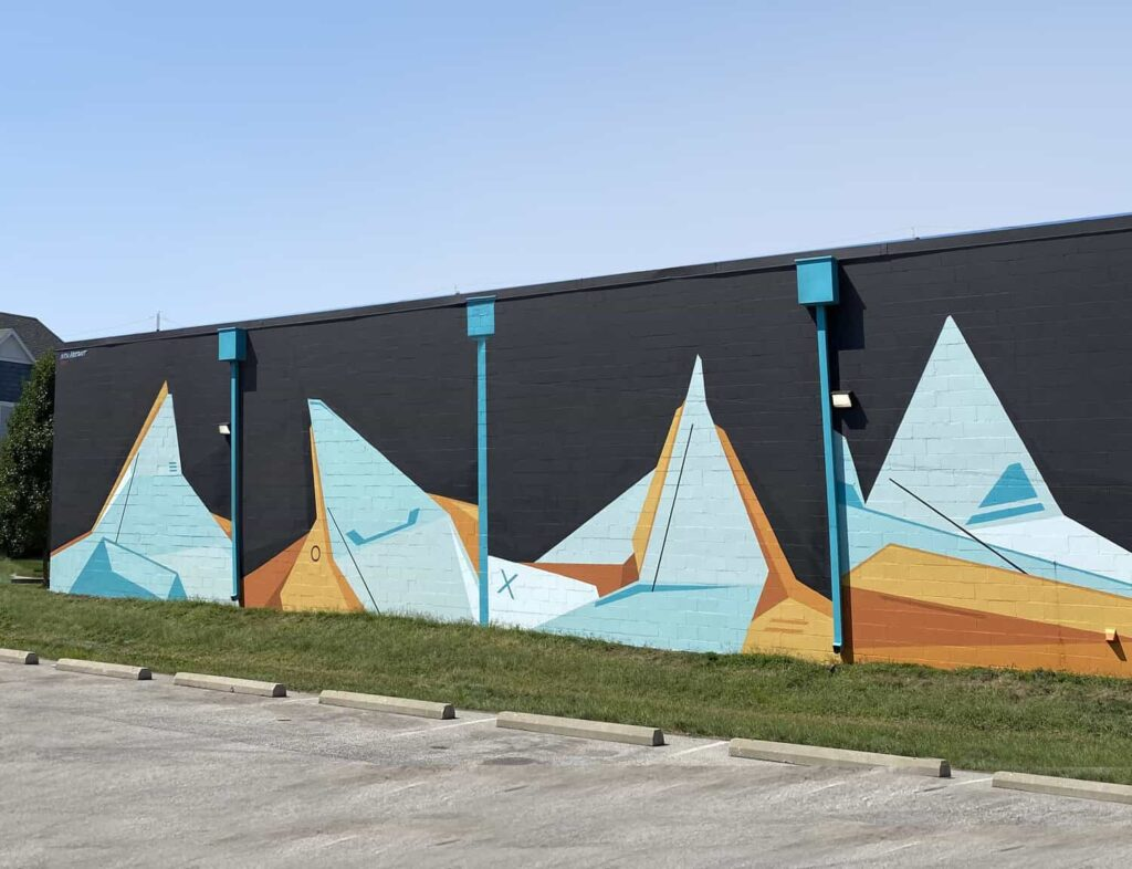 Nick Smith goes BIG with Indy Hound EXT mural