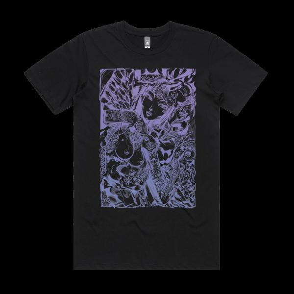 Sofles Girls Girls Girls II Violet Violence T-Shirt Black