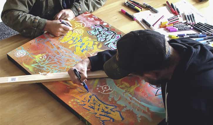 PHIBS & PORNO – Freestyle Paint Marker Studio Session