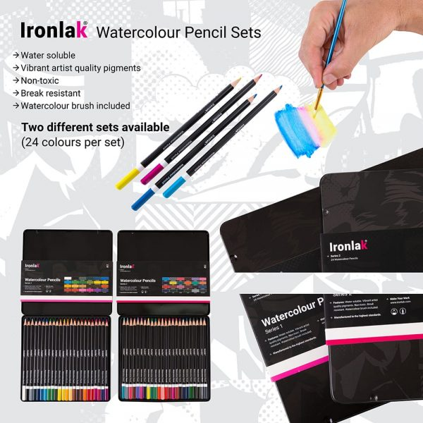 Ironlak Watercolour Pencil Set Infographic