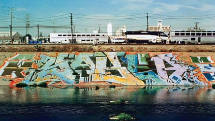 Sabre AWR MSK LA River Graffiti Piece