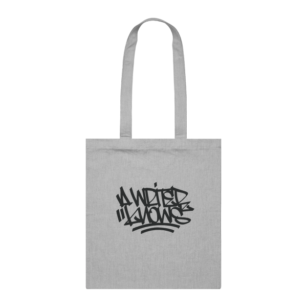 Ironlak A Writer Knows 8 Can Tote Bag Grey Marle