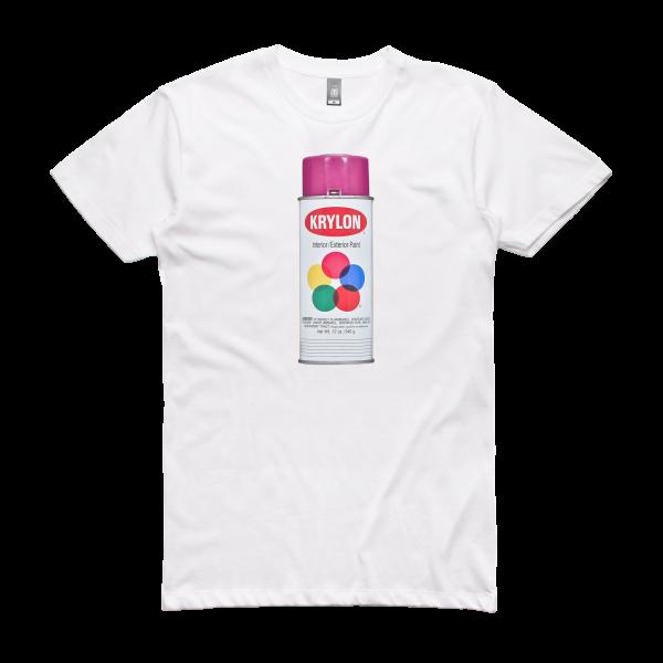 Sprayism Classic Krylon Plum Purple Spray Can T-Shirt White