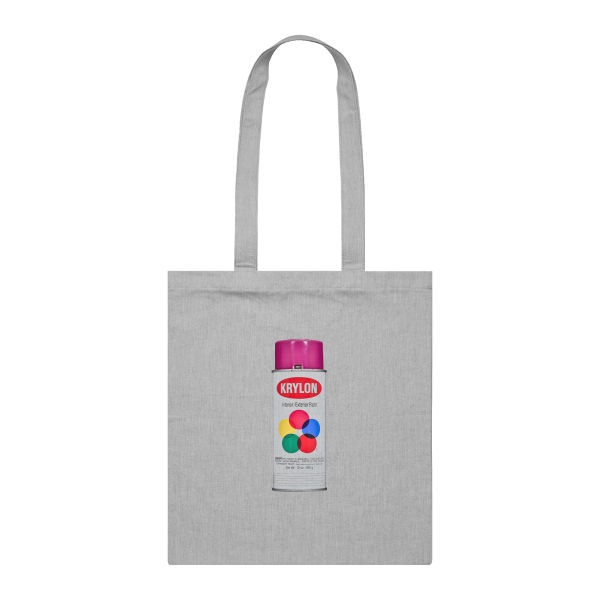 Sprayism Krylon Plum Purple 8 Can Tote Bag Grey Marle