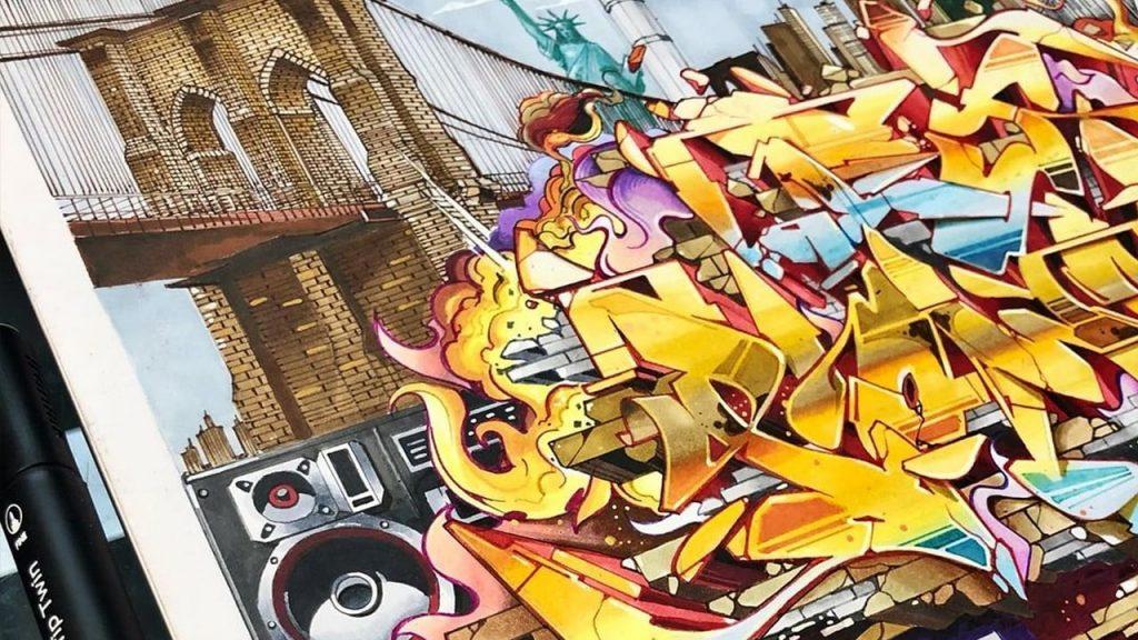 Skore 79 Burner Sketch using Ironlak Graphic Markers