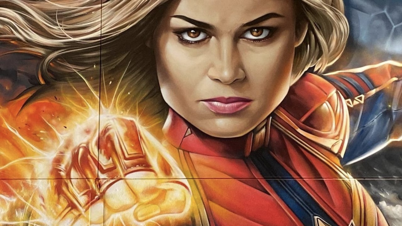 Sofles Paints Marvel Characters Captain Marvel Hulk Black Widow and Ironman