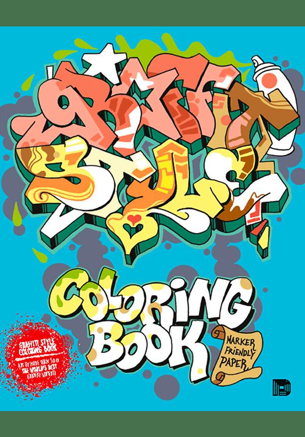 Graffiti Style Coloring Book 789188369055 00